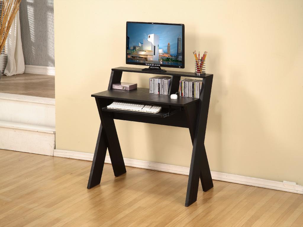 Computer Desk - Black Wood - Art of Furnishing