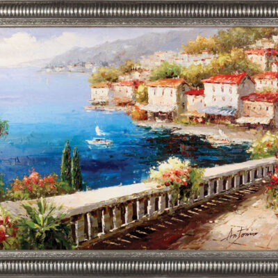 Oil Painting. Ocean Front Terrace
