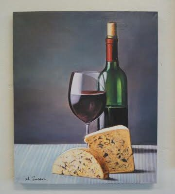 "Wall Art ""Wine & Cheese"""