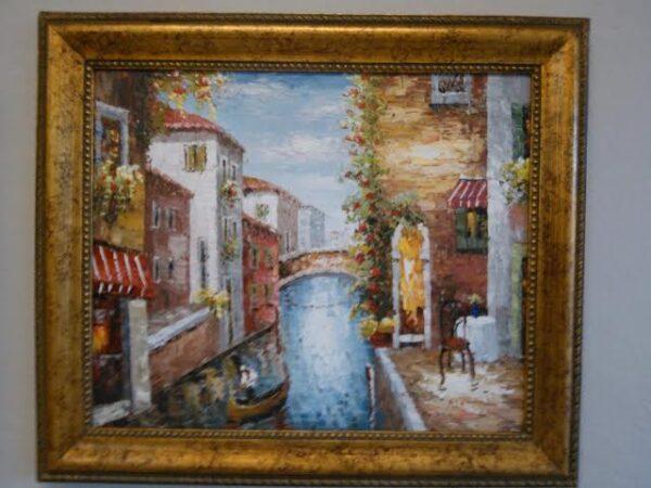 Classic Oil Painting-Venice Gondola