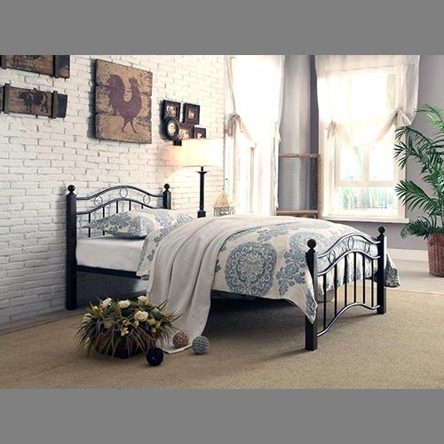 Twin / Full Black Metal Bed-Frame