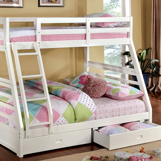Bunk Bed - Twin Over Full - With Two Drawers - Art of Furnishing