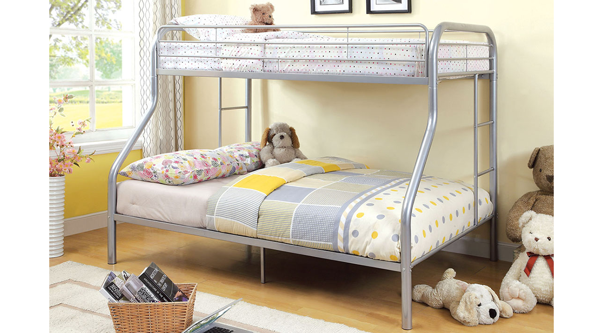 CM-BK1033-SV Twin over Full Bunk Bed 1