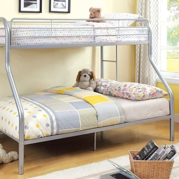 CM-BK1033-SV Twin over Full Bunk Bed